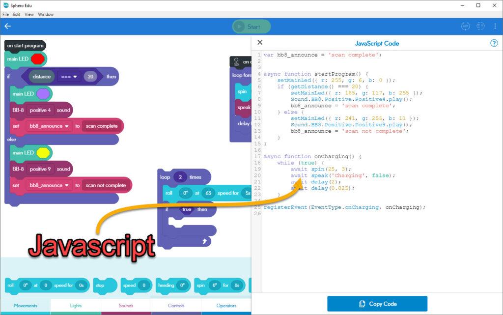 GetMeCoding Sphero App Javascript View