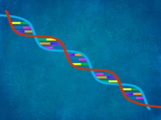 Genes on blue background