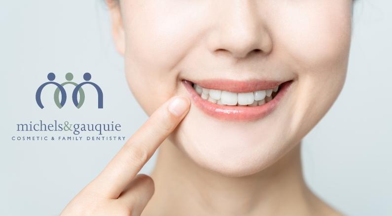 woman needs to whiten teeth with logo