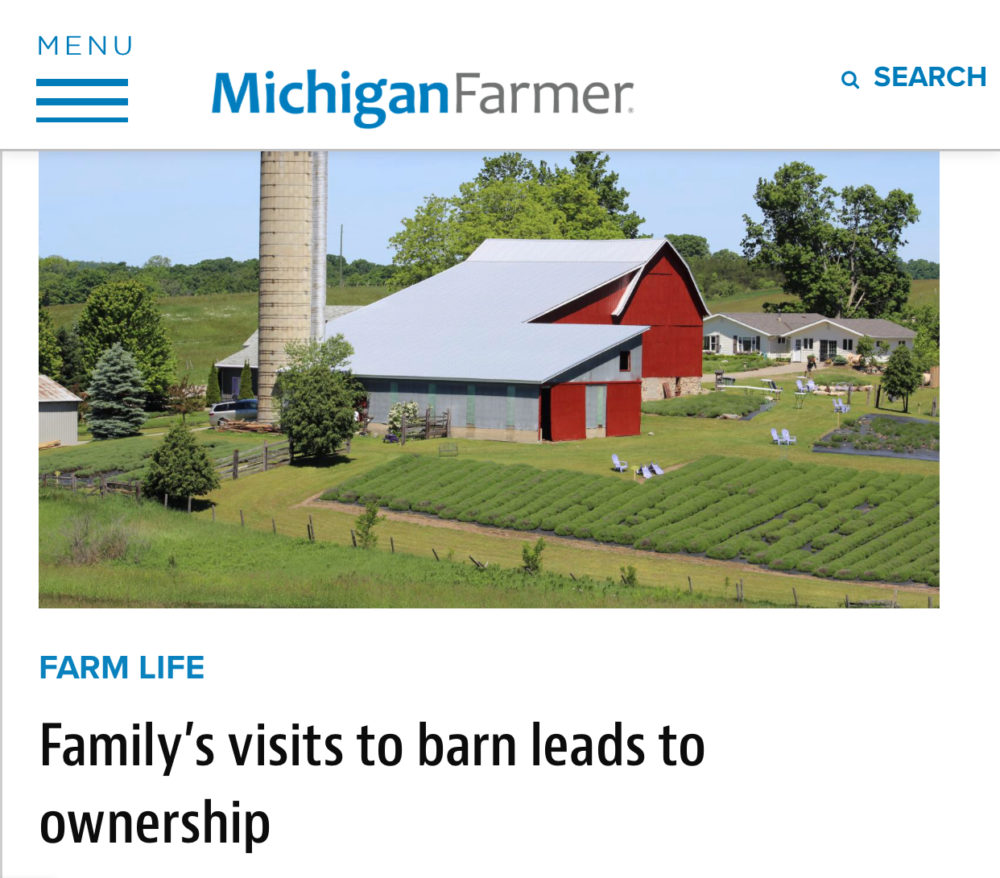 Michigan Farmer Article- Family's Visits to Barn Leads to Ownership
