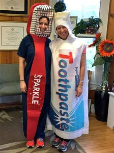 Dr Elizabeth Spindel & Dr. Victoria Spindel in Halloween costume