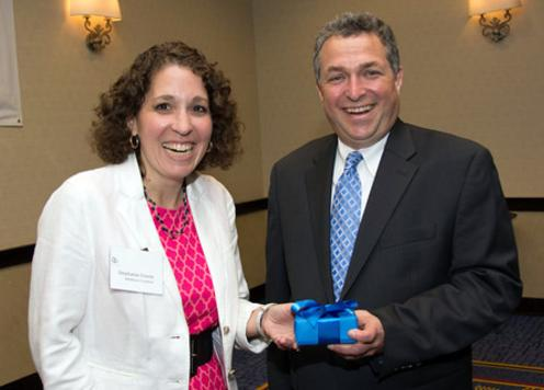 Ken receives 2014 Economic Development Advocate Award from Stephanie  Cronin of The Middlesex 3 Coalition