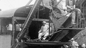 Teddy Roosevelt at original canal.