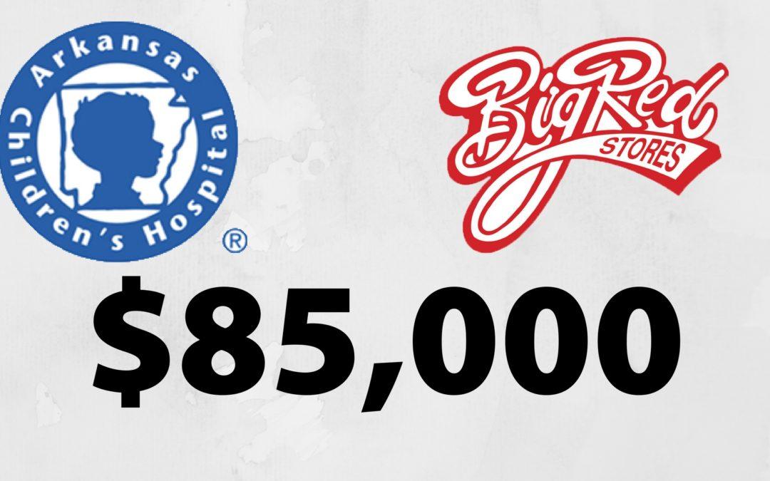 Big Red Stores Raises $85,000 for Arkansas Children's
