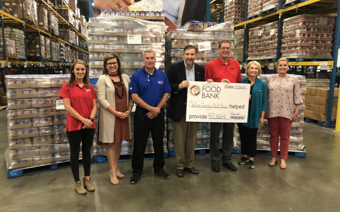 Saline County Helps Big Red Stores Collect Over 9,200 Jars of Peanut Butter for The Salt Bowl