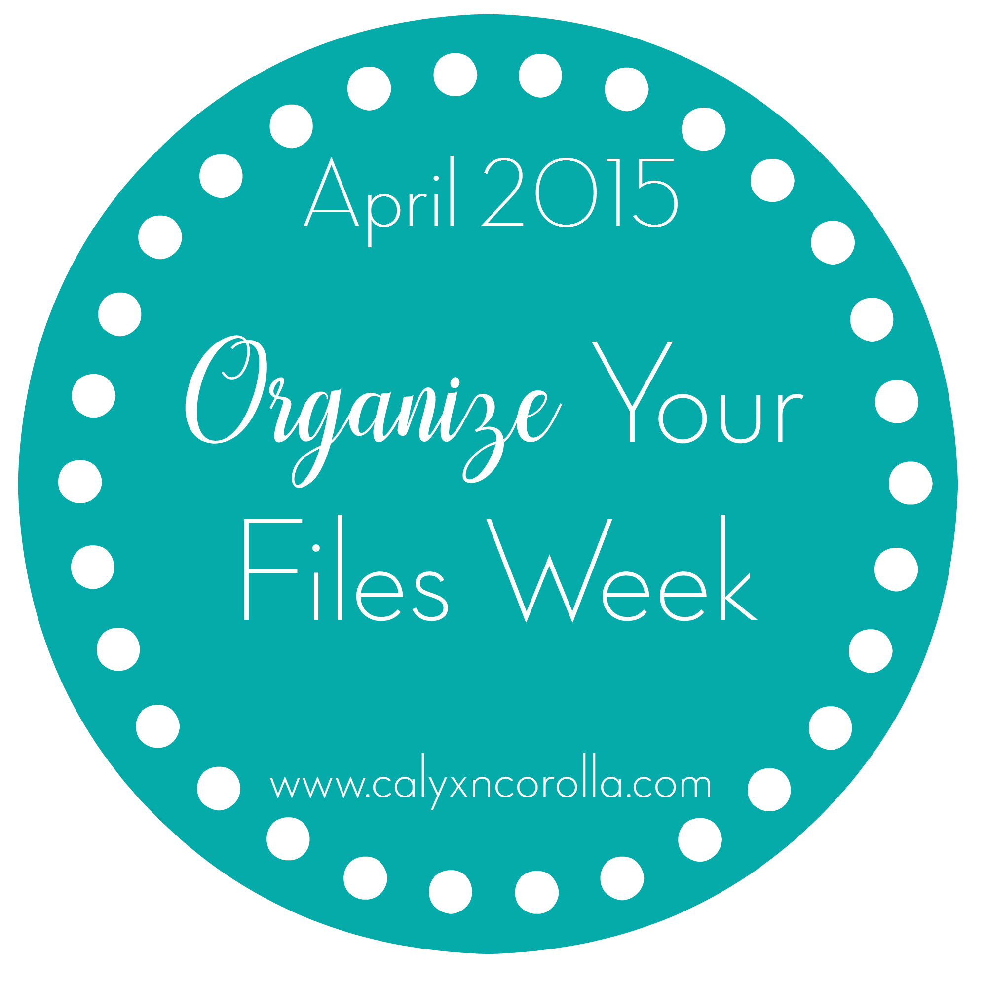 Let's conquer those paper piles and organize our files! Welcome to Organize Your Files Week. TodayWelcome to Organize Your Files week! We're going to spend this week conquering those paper piles by taking on challenges and bonus challenges that will whip your piles into shape! Today is all about finding a place your papers can call home! | Calyx and Corolla