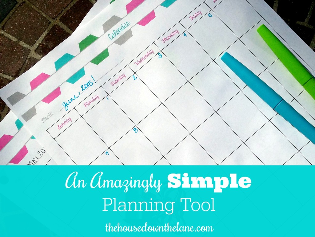 An Amazingly Simple Planning Tool via thehousedownthelane.com.