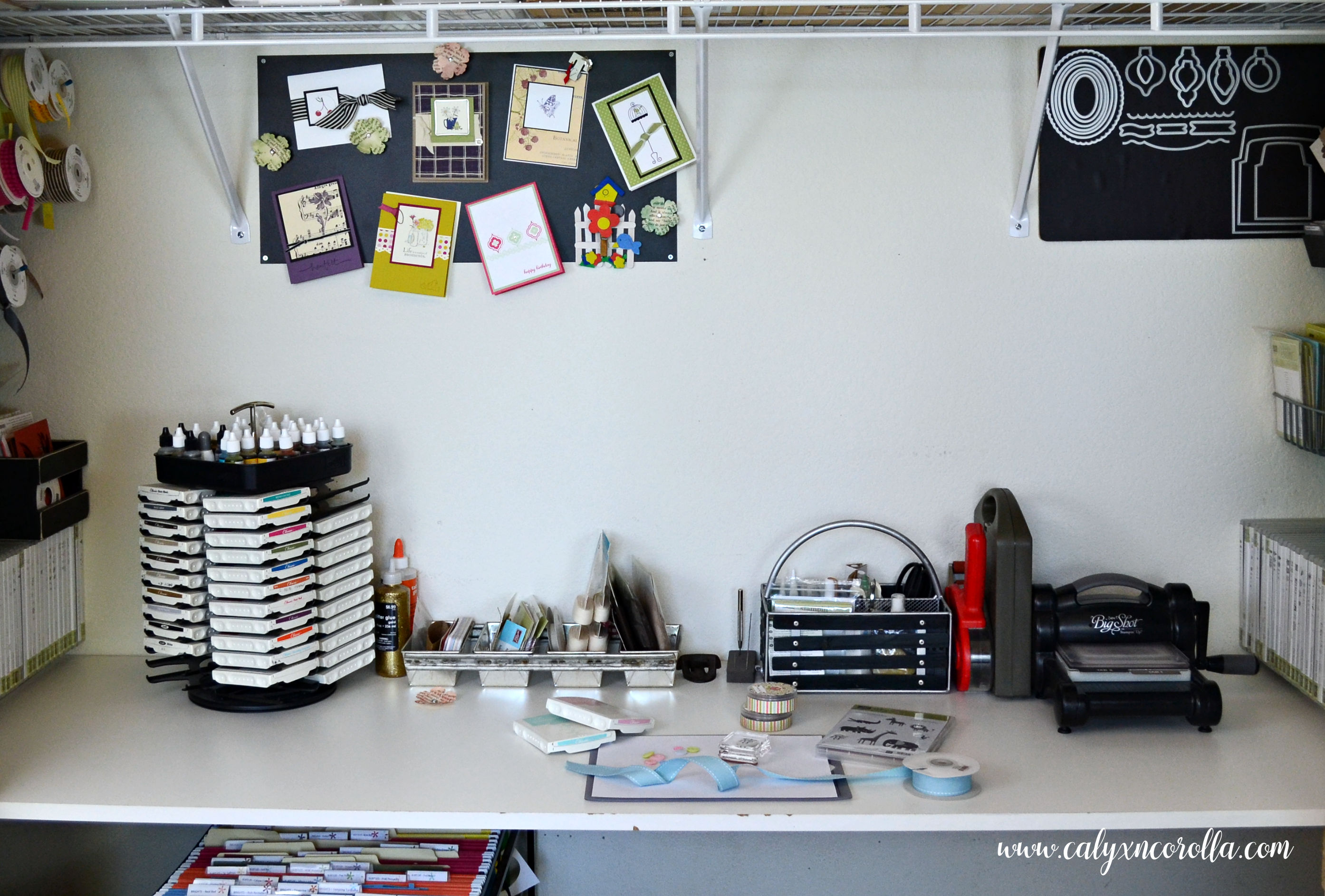 How I Squeezed A Craft Room Into A Closet Calyx Corolla