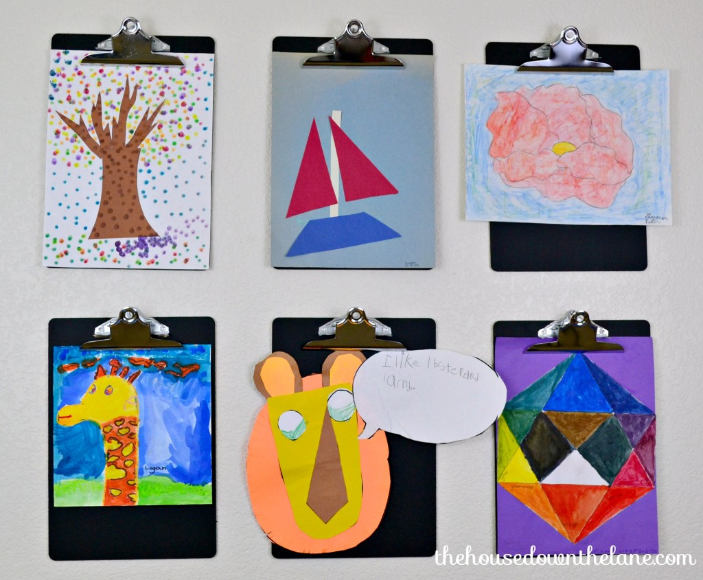 How to Create a Kids' Art Gallery Wall {In an Afternoon} via thehousedownthelane.com.