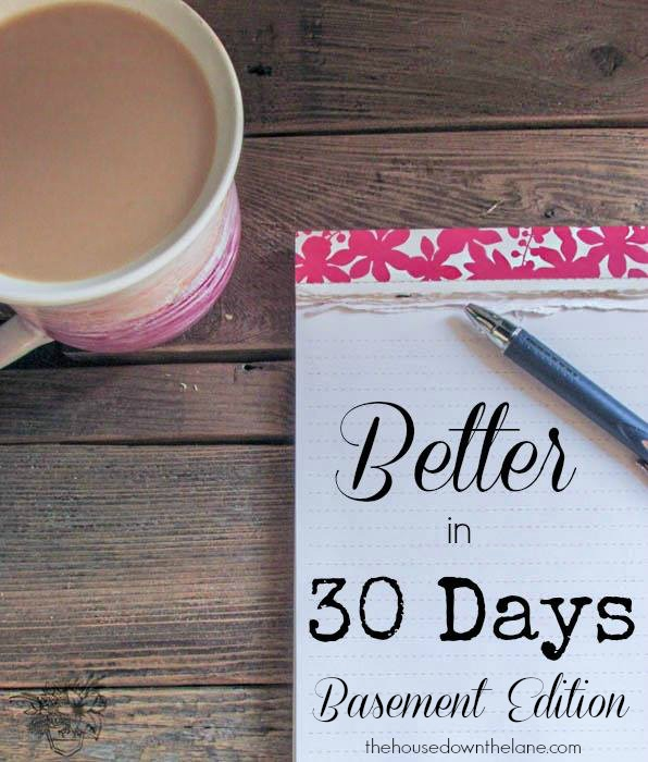 Better in 30 Days - Basement Edition | We're taking on one project, goal, or positive habit at a time each month starting October 1st! Welcome to Better in 30 Days! | The House Down the Lane.