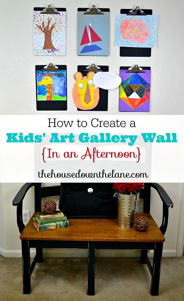 How to Create a Kids' Art Gallery Wall {In an Afternoon} |The House Down the Lane