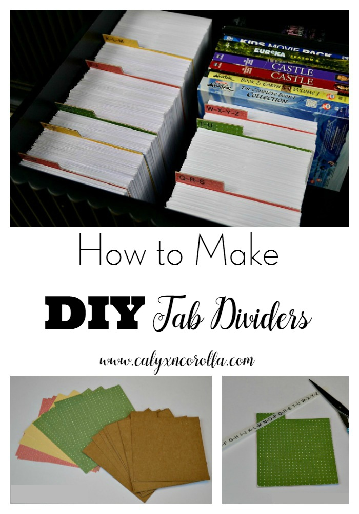 Sometimes finding a specific size tab divider for organizing projects is a challenge. But I found a way to make my own perfectly sized tab dividers, and I'm sharing the tutorial with you, so we'll never have to go without the correctly sized tab dividers again! | Calyx and Corolla