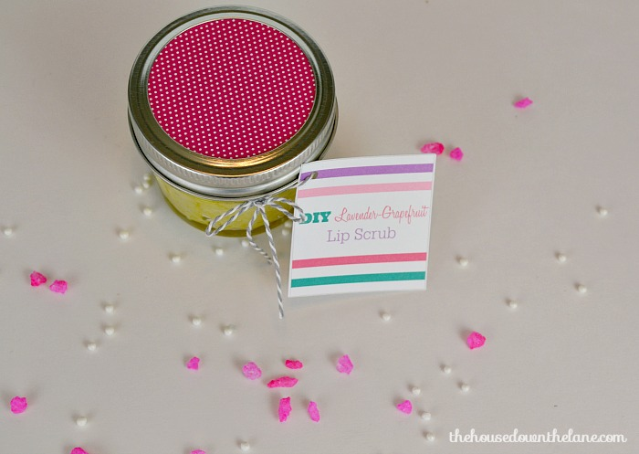 DIY Lavender-Grapefruit Lip Scrub Made with Young Living Essential Oils! | The House Down the Lane