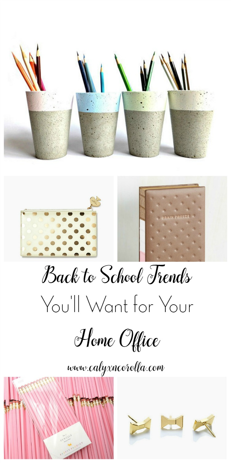 Back to School time is here, and as always, there are certain trends that are causing a kid-sized frenzy. But those frenzy-inducing items aren't just for the classroom or the locker. There are several hot back to school trends you'll want for your home office! | Calyx and Corolla