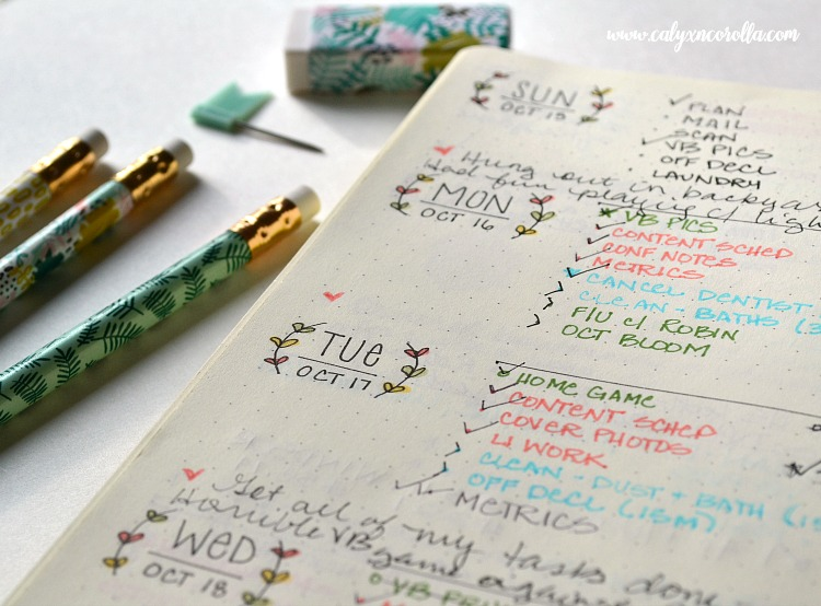 Getting started on a bullet journal can be overwhelming and intimidating, so I'm sharing the things I learned in my first year of bullet journalingto help you know what to expect, to plan more efficiently, and to share my new-found love of this planning tool! #bulletjournal #bujo #planner #weeklylayout
