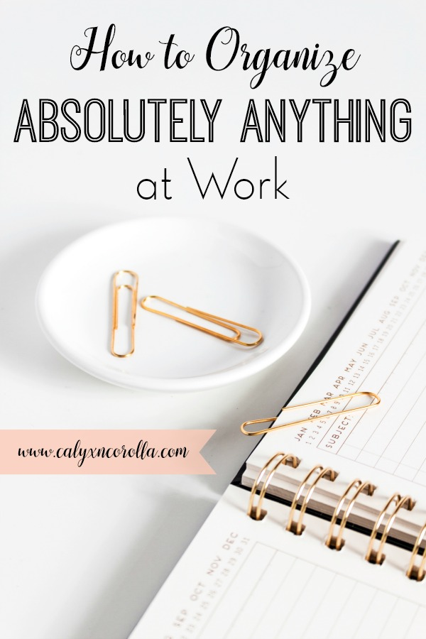 How to Organize Absolutely Anything at Work | Calyx and Corolla