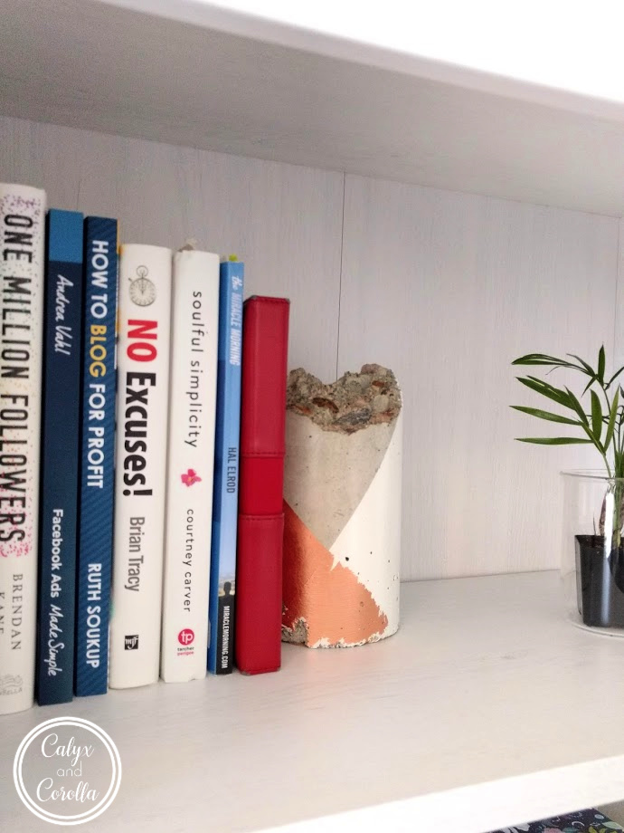DIY Concrete Colorblock Bookends | Calyx and Corolla
