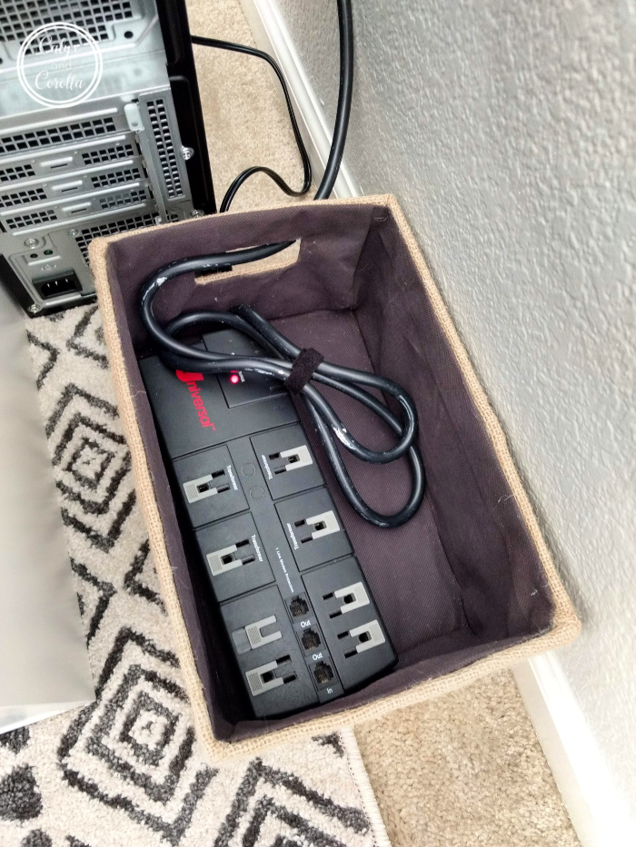 An Easy and Affordable Solution for Office Cord Clutter   Calyx and Corolla