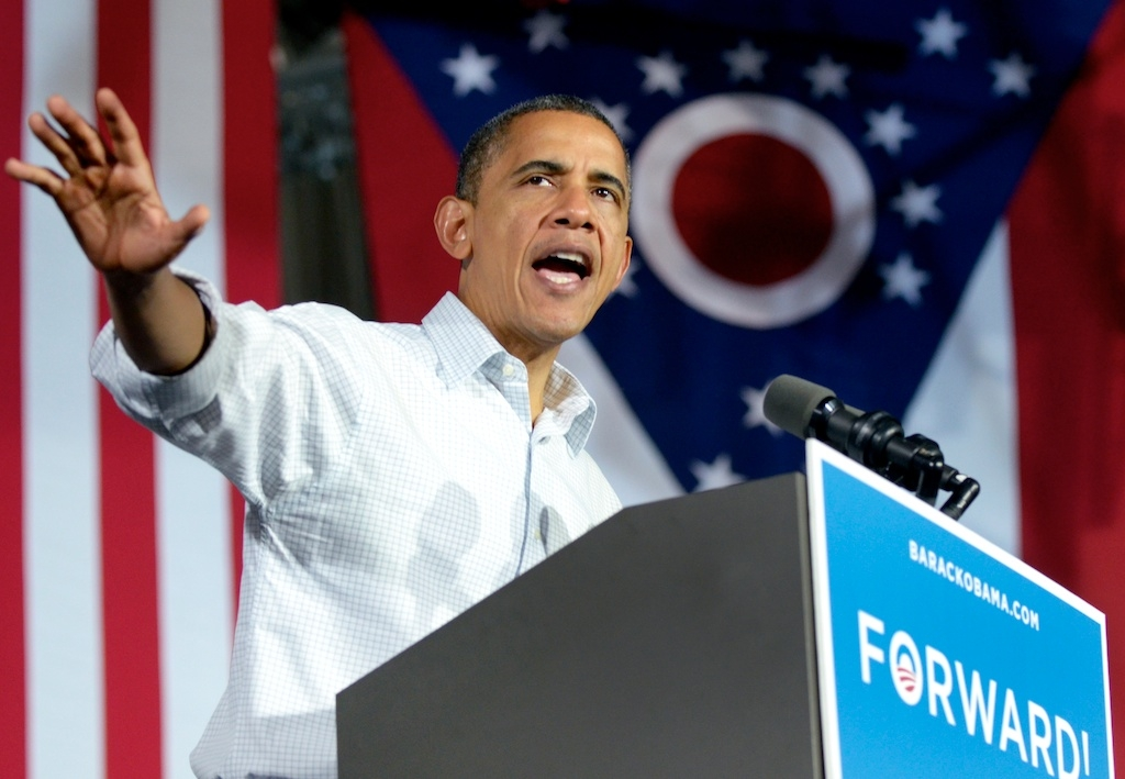 President Obama campaigns in Mentor