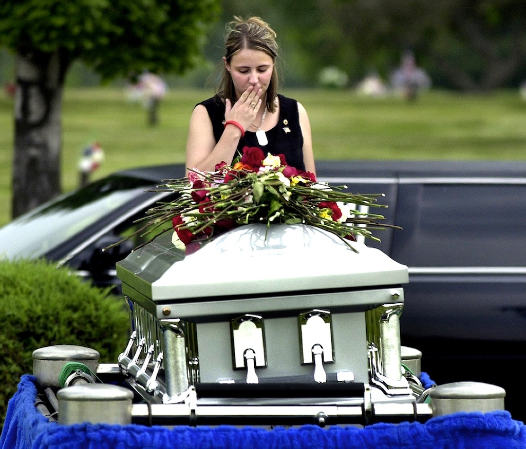 Pamela Montgomery says goodbye to her husband, Brian—a casualty of the Iraq War