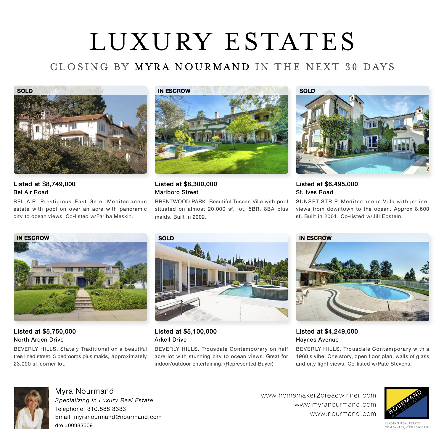 First Lady of Beverly Hills Real Estate Appears in Sunday LA Times