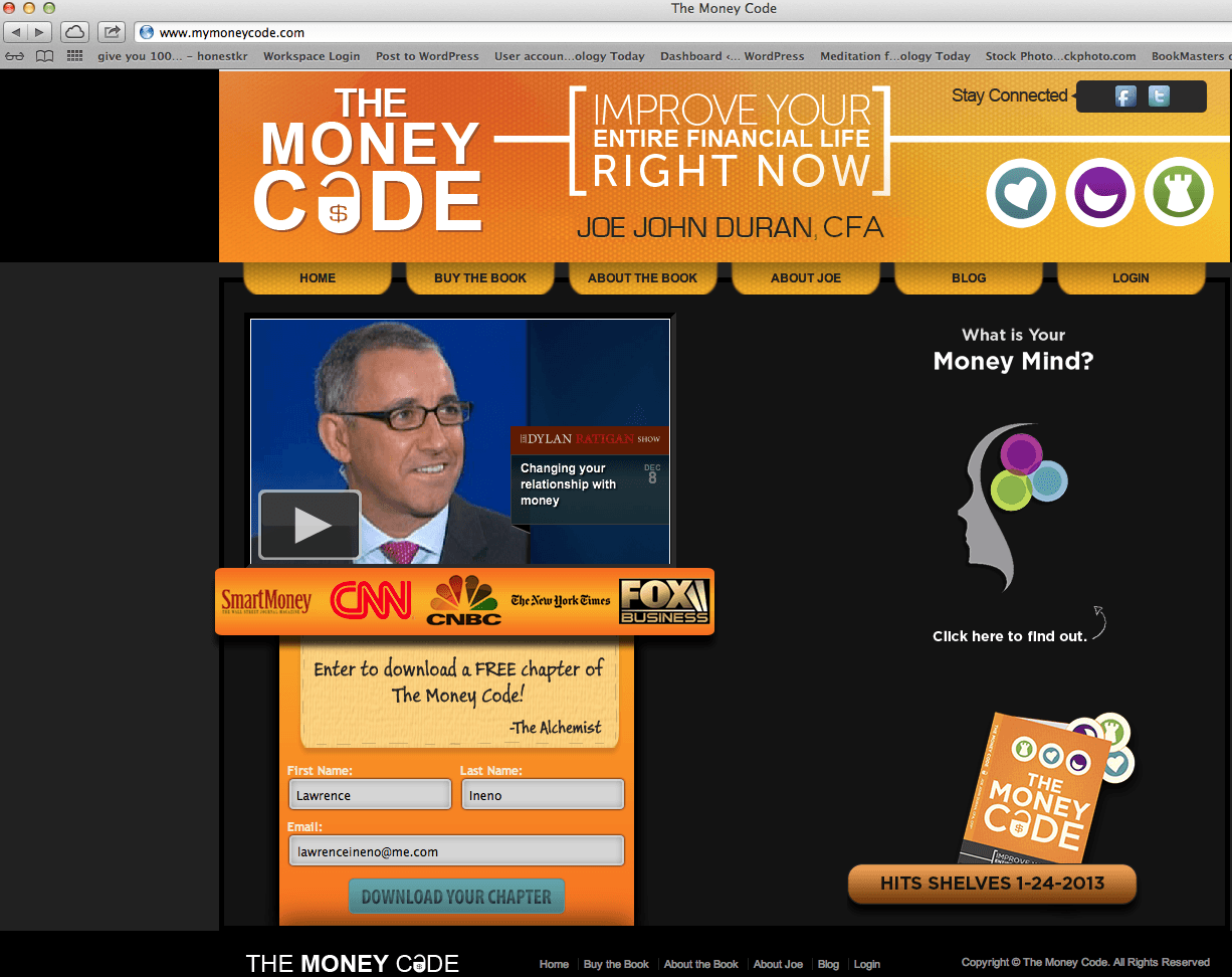 THE MONEY CODE Launches into Cyberspace
