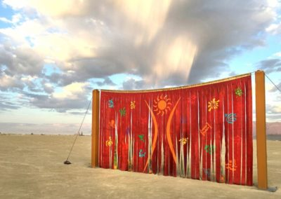 Canvas Deconstruction Series: SOLARIS by Carlos Grasso (Burning Man 2017 art installation) acrylic on canvas - 14' x 26'