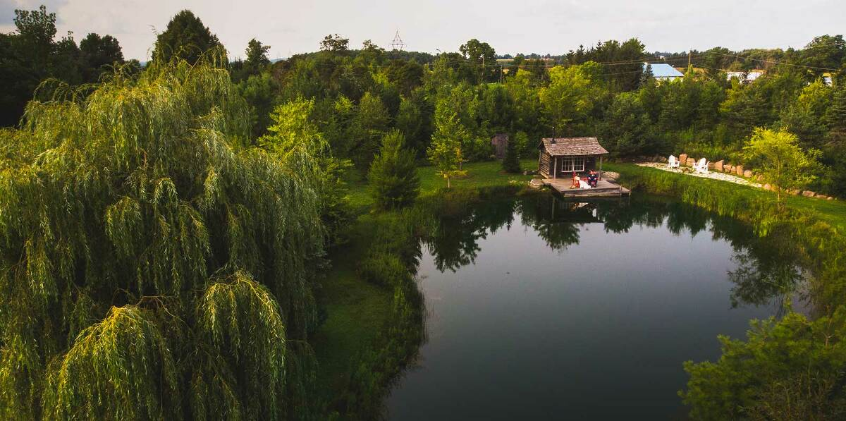 belcroft estate wedding venue drone photo