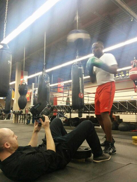 mississauga videographer filming a boxing promo