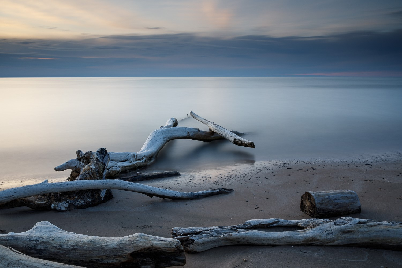 Beautiful grey coloured shoreline