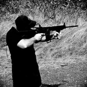 Man shoots an AR-15