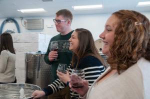 fun wine wedding