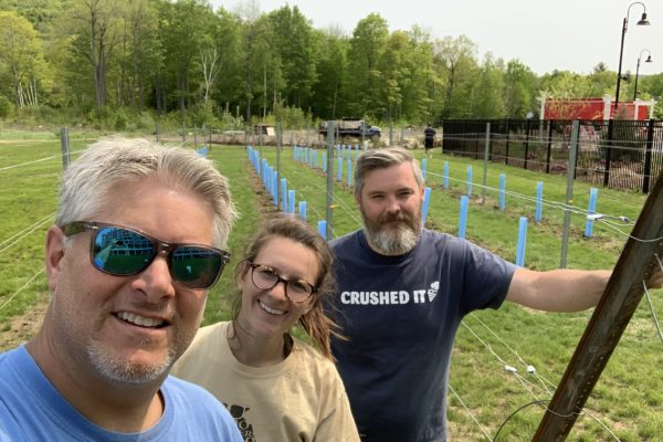 Planting Complete at Seven Birches Winery