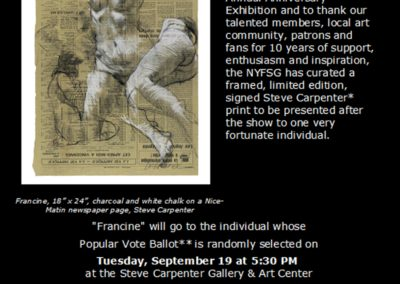 "Poster for ""Francine"" drawing event"