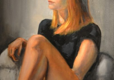 "75. Enrique Viturro, Carly, oil on canvas, 20"" x 28"", $700"
