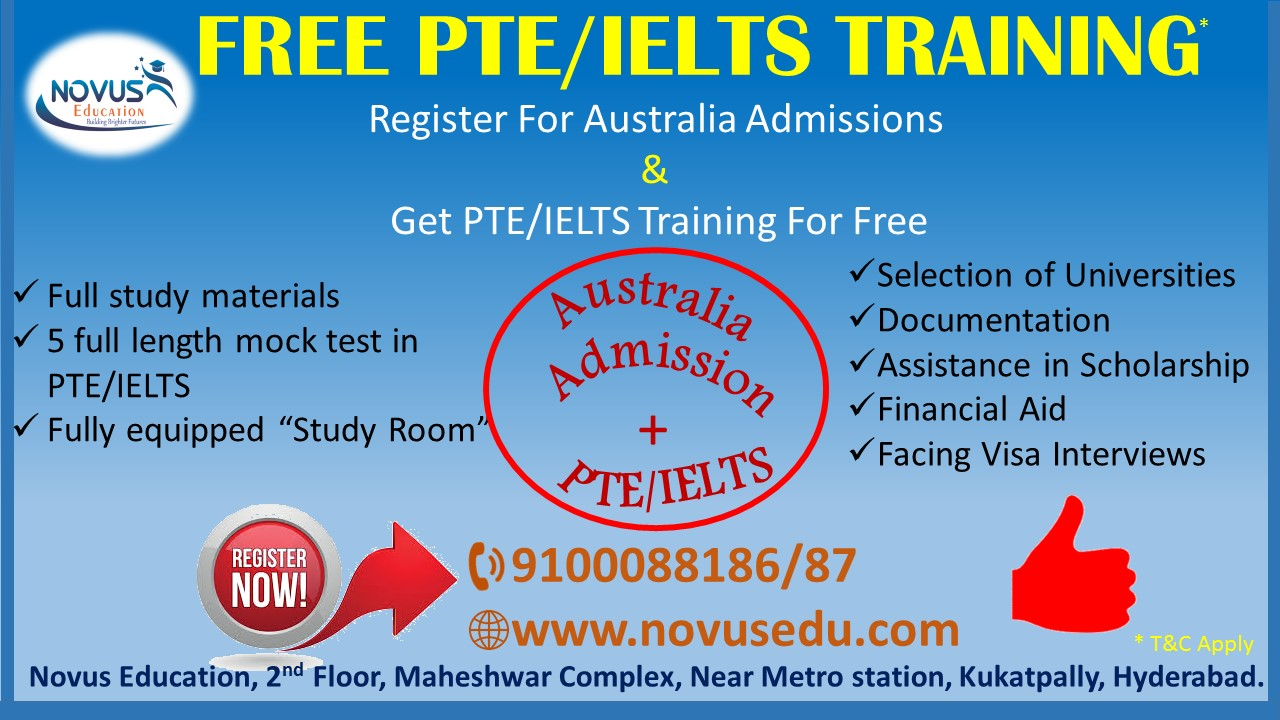 PTE Coaching and australia admissions