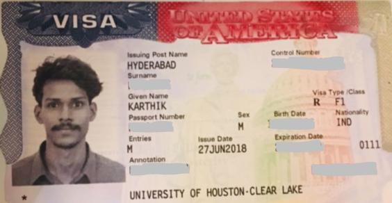 Karthik student visa Novus Education