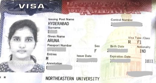 Aruna student visa Novus Education