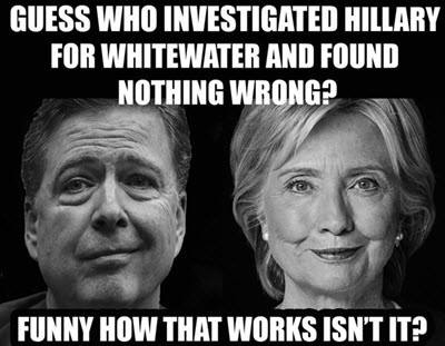 comey let her off whitewater