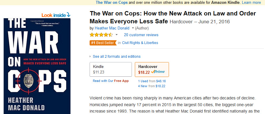 war on cops book by heather mcdonald
