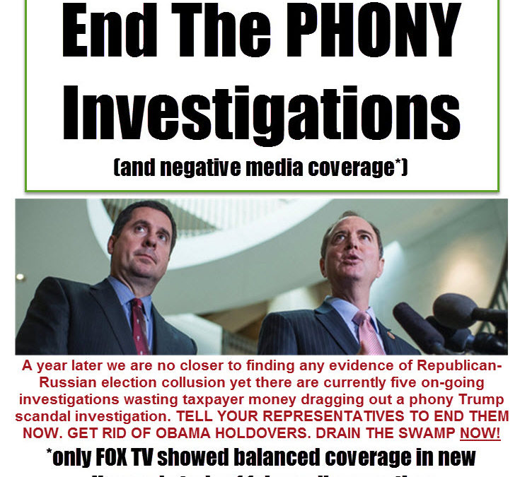 end phony investigations