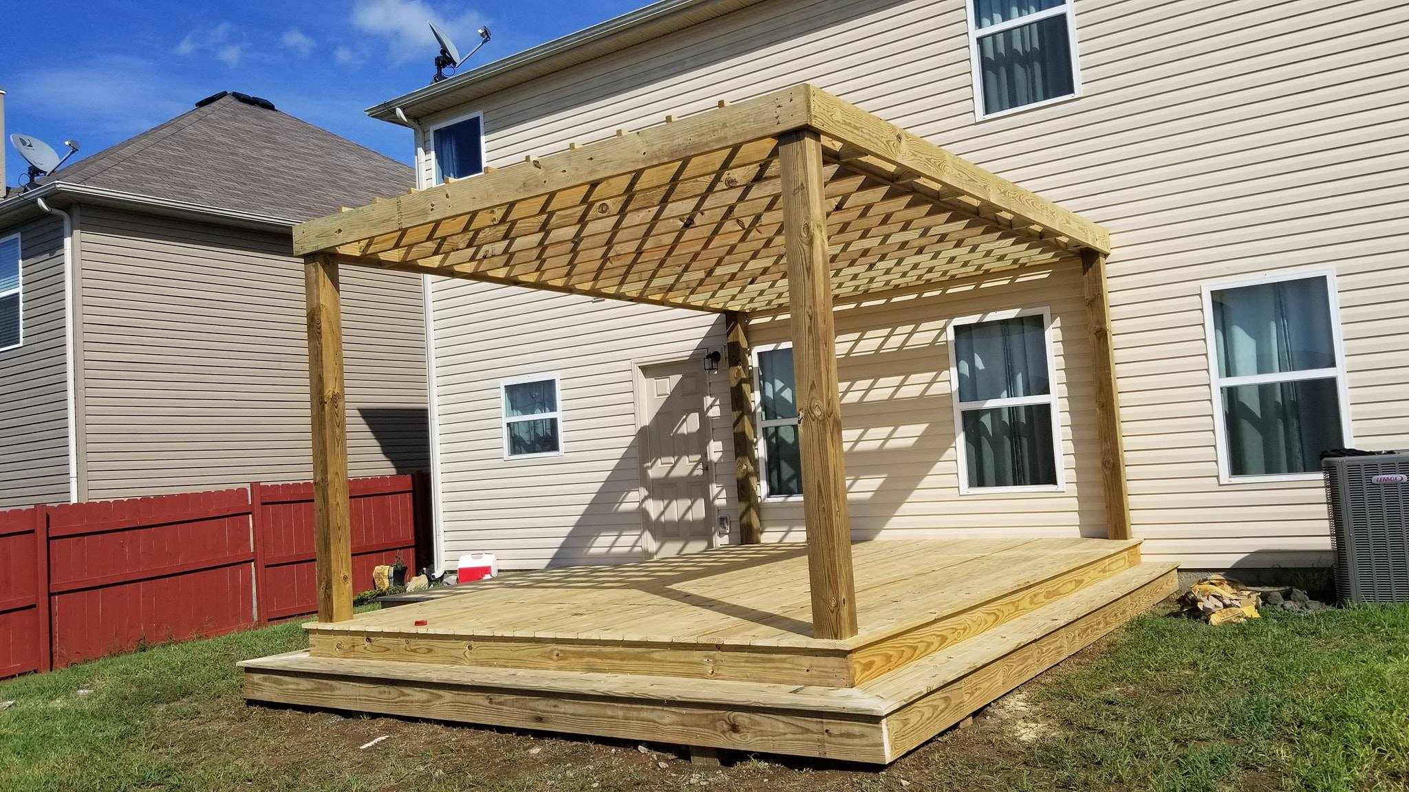 Pergola over New Platform Deck