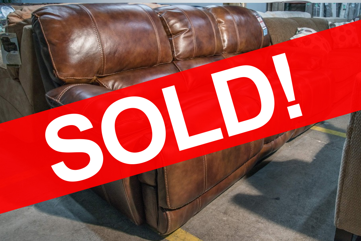 Flexsteel Belmont Leather Reclining Sofa - SOLD