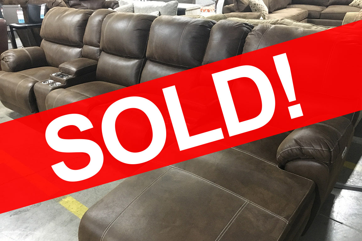 EMPIRE CHAISE POWERED RECLINING SECTIONAL SOFA WITH MASSAGE Sold