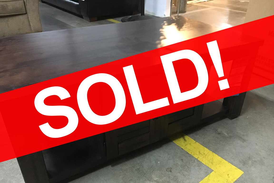 PROGRESSIVE COCKTAIL TABLE WITH 2 DOOR CABINET Sold