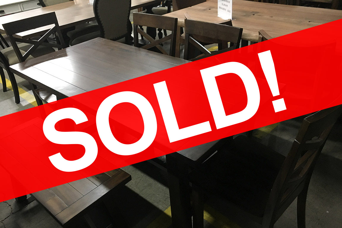RENEGADE DINING SET WITH CHAIRS AND BENCH Sold