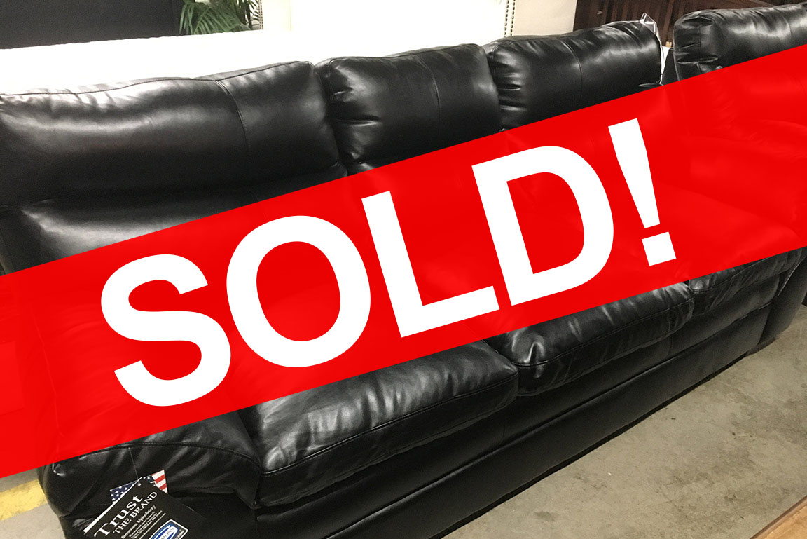 SIMMONS GEORGETOWN BLACK SOFA Sold