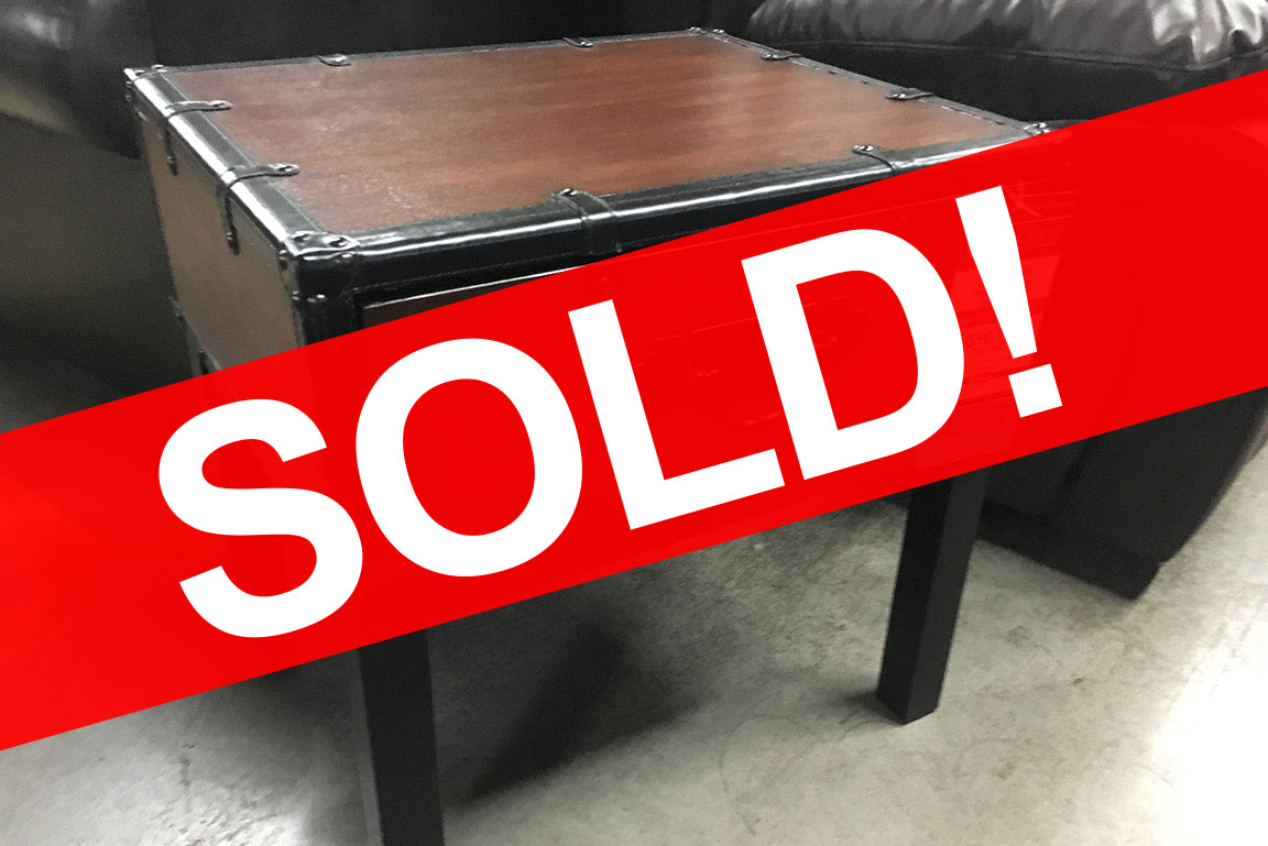 STEVE SILVER VOYAGE TRUNK STYLE END TABLE Sold