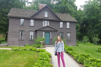 Louisa May Alcott home in Massachussetts