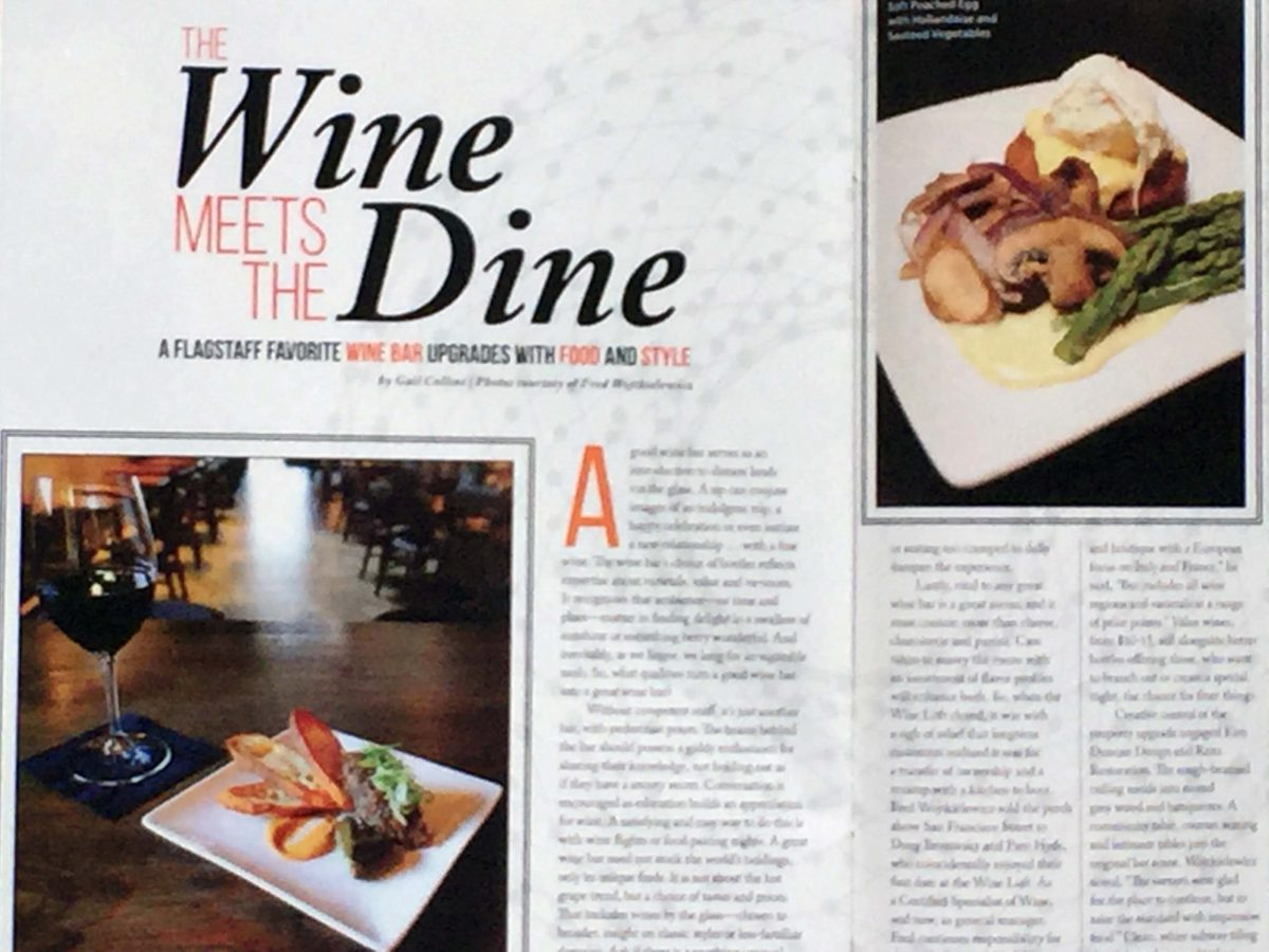 A FLAGSTAFF FAVORITE WINE BAR UPGRADES WITH FOOD AND STYLE
